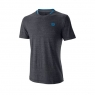 Tennis T-Shirt Wilson Competition Flecked Crew T-Shirt WRA773404 grau
