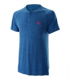 Tennis T-Shirt Wilson Competition Seamless Henley T-Shirt WRA773701