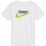 Kinder Tennis T-Shirt Nike Court DriFit T-Shirt CW1538-100