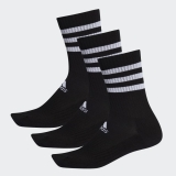 Kinder Tennissocken Adidas Cushioned Crew Socks DZ9347 schwarz