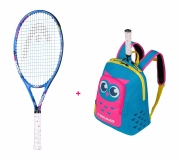 Kinder Tennisschäger Head - MARIA 25 2020 + Kids Backpack blau-pink