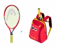 Kinder Tennisschläger Head Novak 19 2020 + Kids Backpack rot