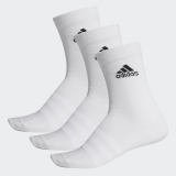 Tennis Socken Adidas Light Crew Socks 3PP DZ9393 weiss