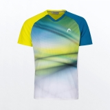 Tennis T-Shirt HEAD STRIKER 811391 blau-gelb