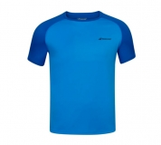 Kinder Tennis T-Shirt Babolat Play Crew Neck Tee 3BP1011-4049 blau