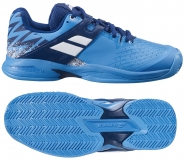 Kinder Tennisschuhe Babolat PROPULSE Clay Junior drive blue