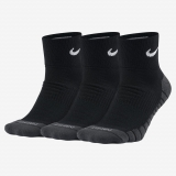 Tennissocken Nike Dry Cushion Quarter SX5549-010 schwarz - dick