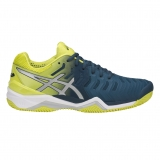 Tennisschuhe Asics Gel Resolution 7 Clay E702Y-4589 blau-limette