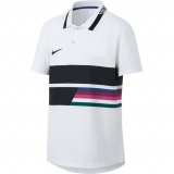 Kinder Tennis T-Shirt Nike Advantage Polo AR2381-100 weiss