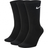 Tennissocken Nike Everyday Lightweight Crew SX7676-010 schwarz, hoch