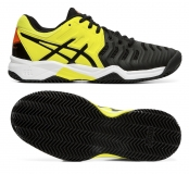 Kinder Tennisschuhe Asics Gel Resolution 7 Clay GS C800Y-003 schwarz-gelb