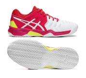 Kinder Tennisschuhe Asics Gel Resolution 7 Clay GS C800Y-116 weiss-pink