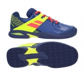 Kinder Tennisschuhe Babolat PROPULSE Clay Junior blau-gelb