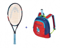 Kinder Tennisschläger Head Novak 25 + Kinderrucksack Head Novak 25 2019