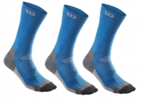 TennisSOCKEN Wilson high-end CREW blau 3 Paar