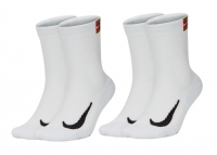 Tennissocken Nike Multiplier Crew Tennis Socks 2 Paar SK0118-100 weiss