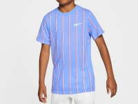 Kinder Tennis T-Shirt Nike Court DriFit T-Shirt CU0338-478 blau