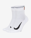 Tennissocken Nike Multiplier Max Ankle Tennis Socks  CU1309-010 weiss